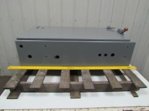 Steel Electrical Enclosure Box 42lx22hx10 d W 40a Fused Disconnect
