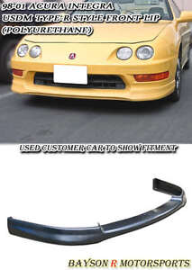 Usdm Optional Tr Style Front Lip Urethane Fits 98 01 Acura Integra 2 4dr