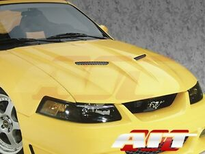 1999 2004 Ford Mustang Ait Racing Type 3 Style Functionl Cooling Fiberglass Hood