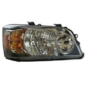 New Right Passenger Side Headlight Assembly Fits 2004 2006 Toyota Highlander