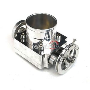 Universal Performance 65mm Intake T6 Aluminum Throttle Body Cnc W Adaptor Plate