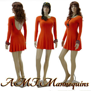 Female Plastic Sexy Mannequin metal Stand full Body Realistic Manikin f22 2wigs