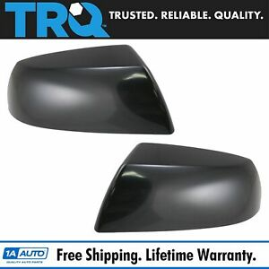 Smooth Black Mirror Caps Covers Pair Set For Toyota Sequoia Tundra Pickup Truck