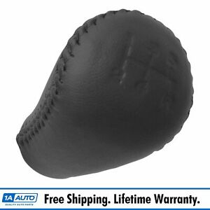 Oem 5 Speed Manual Transmission Gear Shift Knob Black Leather For Ford Mustang