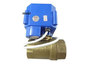 10pcs Motorized Ball Valve 12v Dn25 bsp 1 Manual Switch 2 Way Electrical