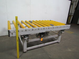 Power Roller Case Conveyor W 1 Pneumatic Cylinder Lift 54 wx96 lx35 h
