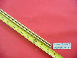 2 Pieces Of 1 4 C360 Brass Solid Round Rod 14 Long 250 Lathe Bar Stock