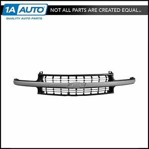 Front Grille With Matte Gray Center Bar For Chevy Silverado Tahoe Suburban Truck