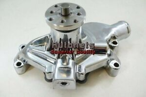55 72 Small Block Chevy Chromed Aluminum Short Water Pump Swp Sbc Racing Highvol