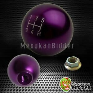 Purple M10x1 5 Ball Style 5 Speed Mannual Mt Shift Knob Acura Integra 1990 2000