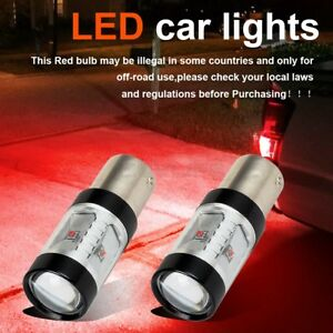 2x 1156 1155 Cree 30w Super Bright Tail Brake Light Bulbs Red Led Projector