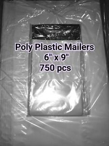 Lots Of 750 1 6 x9 Poly Self Sealed Plastic Mailers Mailing Bags Envelopes