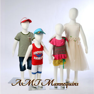 Child Full Body Mannequin stand Removable Head Flexible Pinnable 4 Kids Manikins