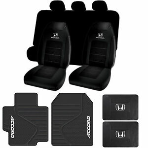 Honda Accord Rubber Mats Seat Covers Black Bench Cover 11pc Universal fit