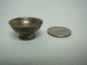 Obadiah Fisher Sterling Silver Dollhouse Miniature Footed Bowl