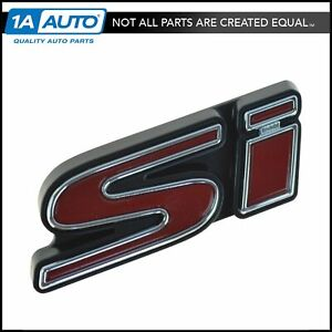 Oem 75732 svb a01 Grille Mounted Red Chrome Si Nameplate Emblem For Civic New