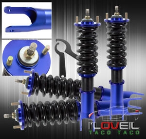 92 98 Bmw E36 318 323 Shocks Strut Damper Shocks Coilover Lowering Spring Blue