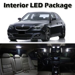 White Led Interior Light Bulb Package For Bmw E60 2004 2010 4 Door Sedan Saloon