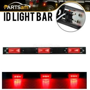 17 Red Bright Led Id Bar 3 Led Marker Light Truck Trailer Bus Clearance Light