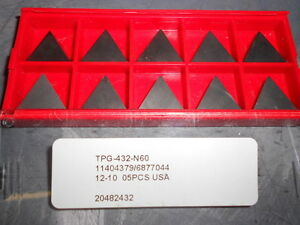Professional Carbide Turning Inserts Tpg 432 n60 Qty 10 20482432