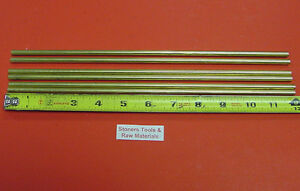 6 Pieces Of 1 4 C360 Brass Solid Round Rod 12 Long 250 Lathe Bar Stock