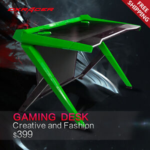 Dxracer Office Desk Gaming Desk Comfortable Table Computer Desks Gd1000ne