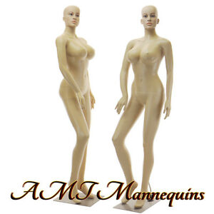 Female Sexy Mannequin metal Stand Full Body Busty Manikin sp24 2wigs