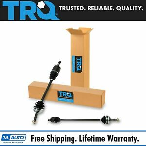 Trq New Cv Axle Shaft Assembly Pair Front For Accord 2 3l At Auto Transmission