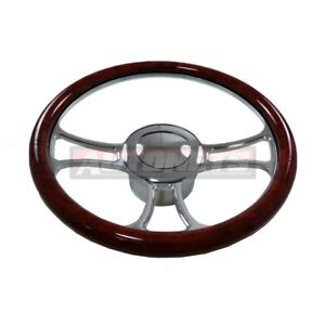 Wood Veneer Trinity Chevy Gm Buick Pontiac Aluminum Steering Wheel Horn Adapter