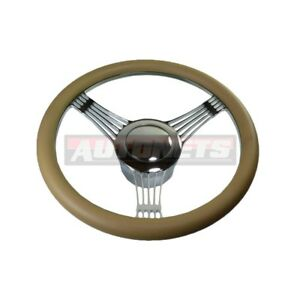 Beige Banjo Camaro Impala Nova Hot Rod Steering Wheel Aluminum Horn Adapter