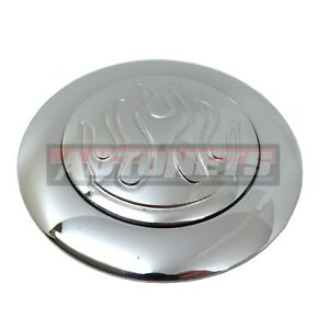 9 Hole Flamed Open Hole Chrome Aluminum Steering Wheel Horn Button 67 94chevy Gm
