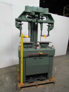 Twin Head Pneumatic Press Independent Controls3 1 2 Bore 4 stroke