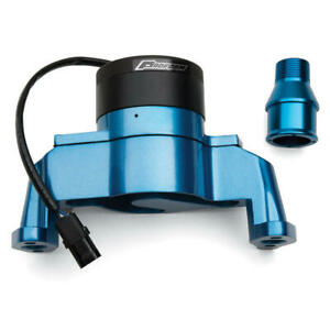 Proform Water Pump 66225b 35 Gpm Blue Aluminum Electric For Chevy 262 400 Sbc