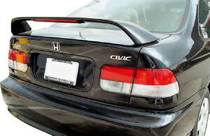 Fits 1996 2000 Honda Civic Si 2 Dr Oe Factory Style Style Spoiler Wing Primer