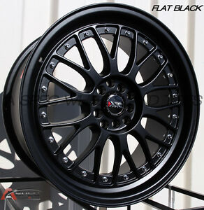 Xxr 521 18x8 5 Wheels 5x100 114 3 35 Flat Black Rim Fits Accord Mazda Speed3 Tc
