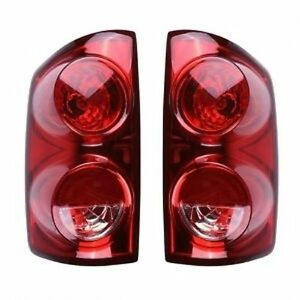 New Pair Of Tail Lights Left Right Fits 2007 2008 Dodge Ram Pickup Truck