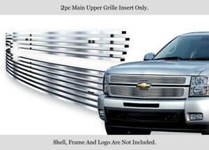 304 Stainless Steel Billet Grille Fits 2007 2013 Chevy Silverado 1500