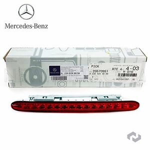 For Benz R230 Rear Center Third Brake Stop Safety Light Trunk Lid Taillight Red