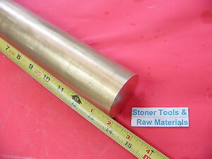 2 C360 Brass Round Rod 14 Long Solid 2 0 Diameter H02 Lathe Bar Stock