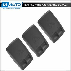 Oem Child Seat Tether Anchor Cover Black Lh Rh Center Set Of 3 For Chrysler New