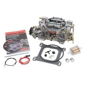 Edelbrock Carburetor 1406 Performer 600cfm Vacuum Secondary Electric Satin