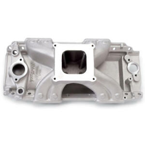 Edelbrock Intake Manifold 2902 Victor Jr Rectangular Port Aluminum For Bbc