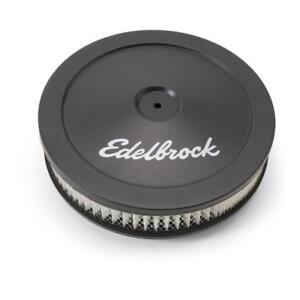 Edelbrock Air Cleaner Assembly 1203 Signature Series Black Steel Round 10 X 2