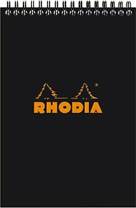 Rhodia Top Wirebound Notepad Black Graph 6 X 8 25 In R165009