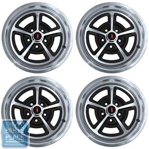 1964 81 Oldsmobile Cutlass Magnum 17 X 7 Wheels Machined Face Set Of 4
