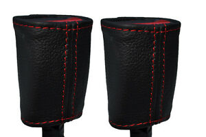 Red Stitching 2x Front Seat Belt Leather Covers Fits Pontiac Gto 2004 2006