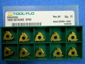 Toolflo 16er 6stacme Gp50 Carbide Inserts