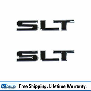 Oem Slt Nameplate Emblem Pair Lh Rh Side Rear C Pillar Tailgate Chrome For Gmc