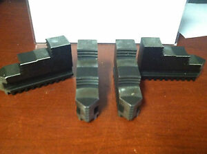 Bison 7 880 410 10 Hard Solid O d 4pc Lathe Chuck Jaw Set