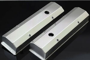Sbc Fabricated Tall Aluminum Valve Covers W Accessory Holes 6351